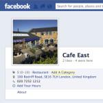Cafe East Facebook page